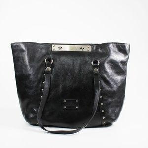 Patricia Nash Benvenuto Black Smooth Leather Tote